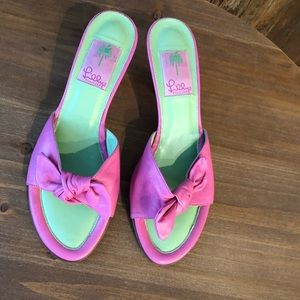 Lilly Pulitzer Shoes - Lilly Pulitzer, 8, Classic Pink & Green Sandals